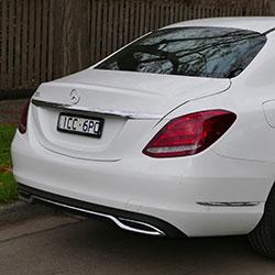 Achterkant Mercedes C-Klasse W205 | Douwe de Beer occasions